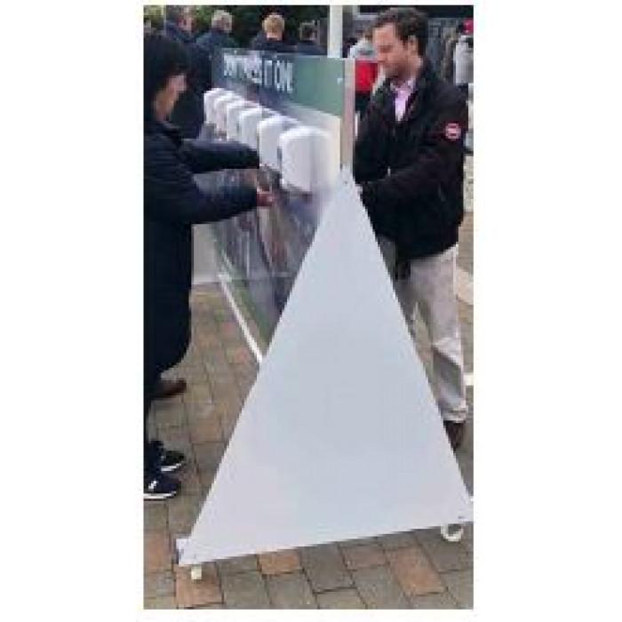 Multiple unit touch free sanitiser station