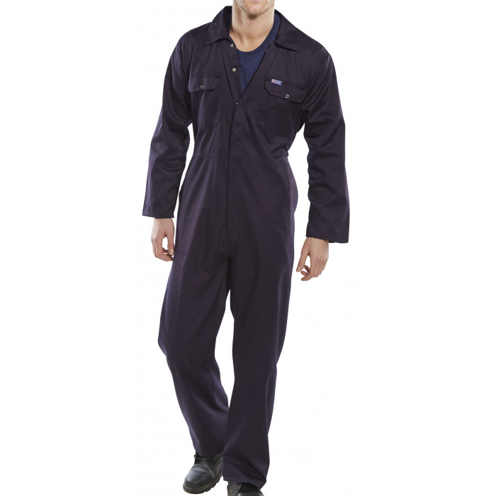 Standard Boiler Suit With Poppers - Navy