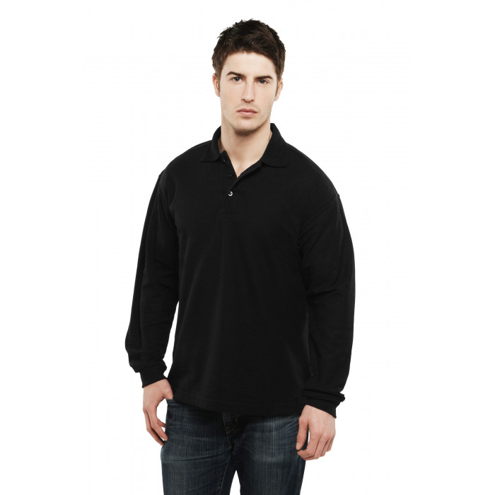 Classic Long Sleeved Polo Shirt - Black