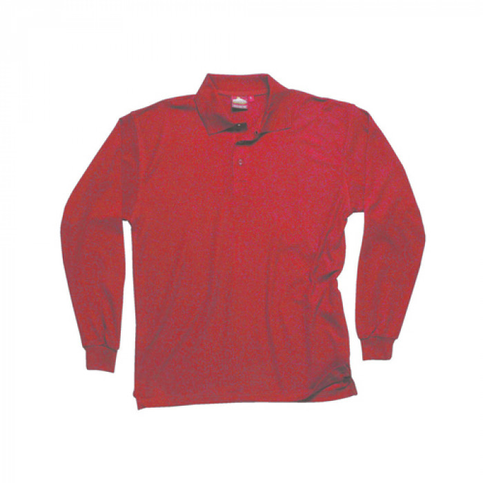 Classic Long Sleeved Polo Shirt - Red
