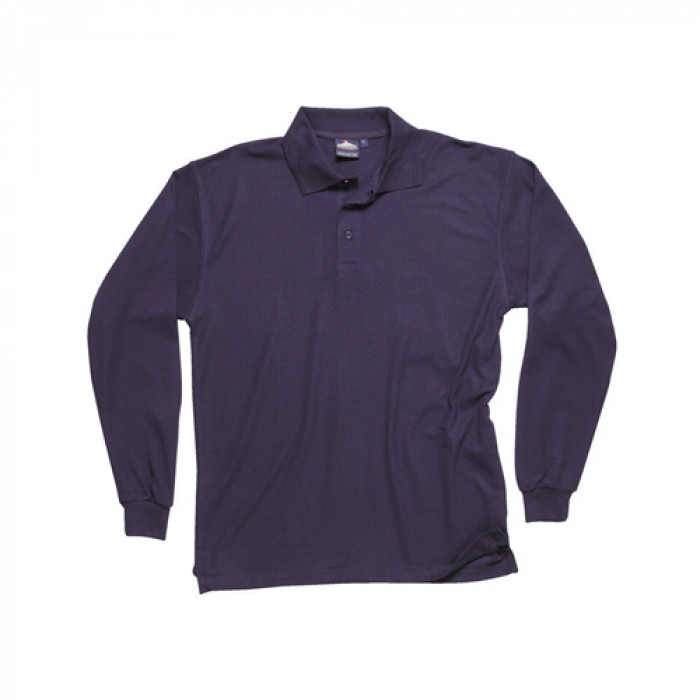 Classic Long Sleeved Polo Shirt - Navy
