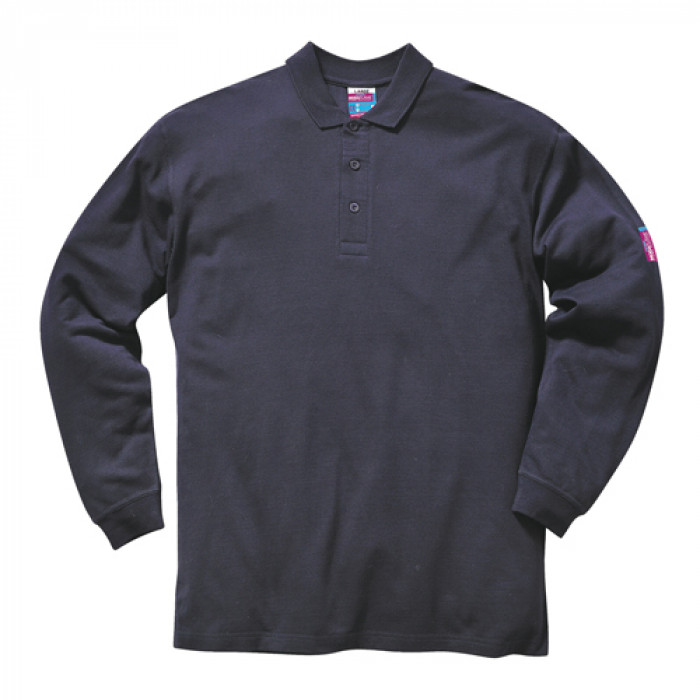 'Modaflame' Flame Retardant Long Sleeve Polo Shirt