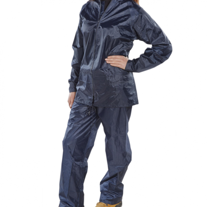 Heavy Duty Wet Suit Trousers & Jacket  (Navy)
