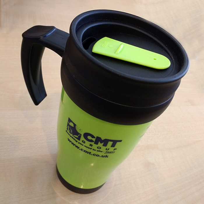 CMT Printed Insulated Travel Mug - Lime Green