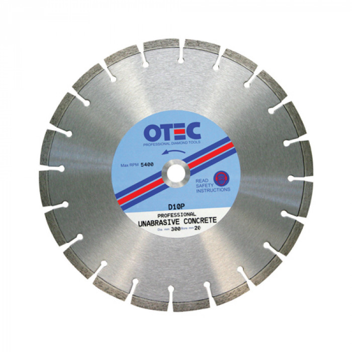 OTEC D10P Extremely Hard Concrete and Granite Blade