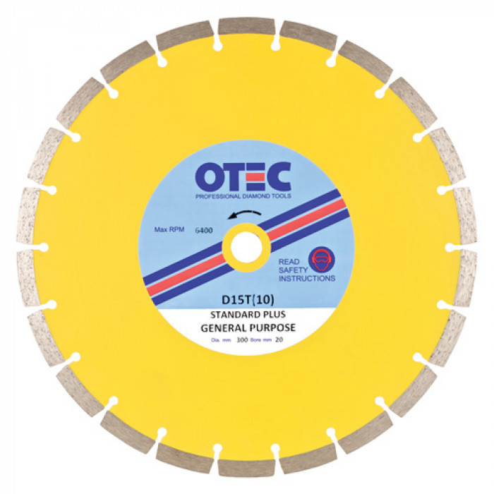 OTEC Standard Diamond Blade - General Purpose D15T(10)-350/25