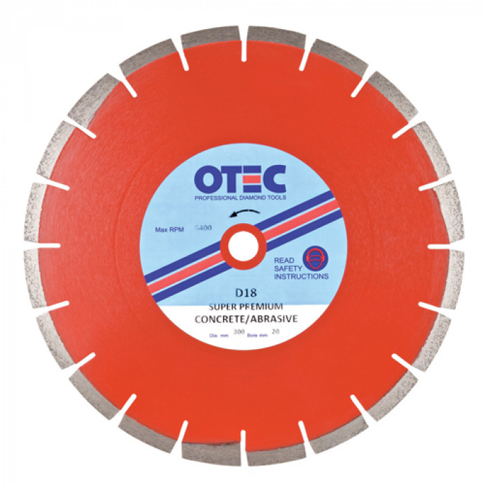 Premium Multipurpose Diamond Blade 300x20mm | OTEC D18