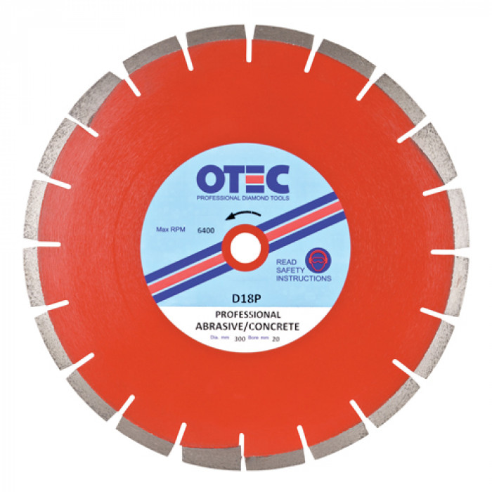 OTEC D18P Professional Multipurpose Blade - Abrasive Products/Roof Tiles/Concrete Blocks