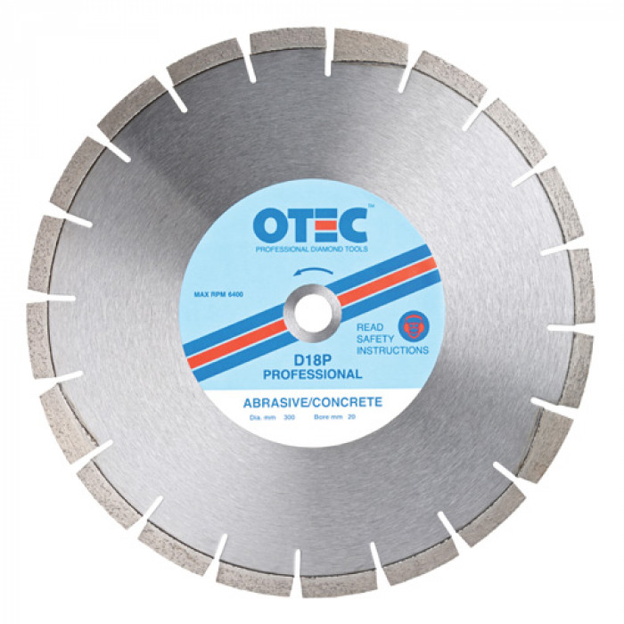 OTEC Professional Diamond Blade 115mm - Abrasive/Concrete