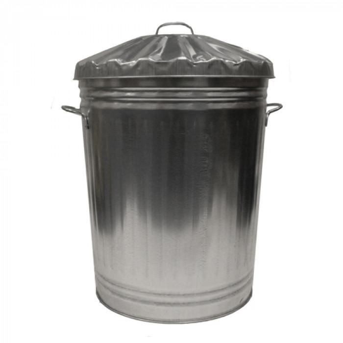 80 Litre Galvanised Dustbin W/Lid