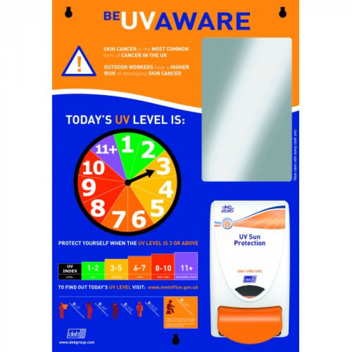 Deb Stoko UV Skin Safety Centre Board