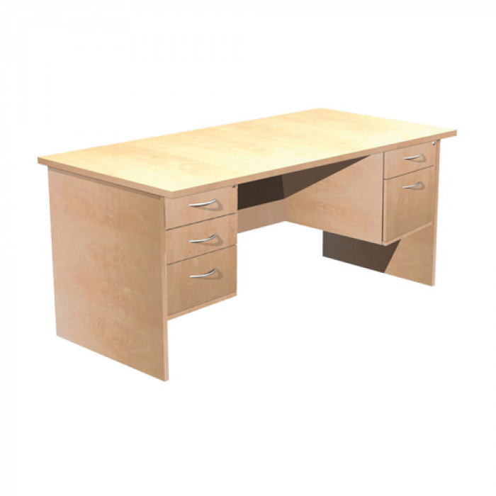 Double Fixed Pedestal Rectangle Desk