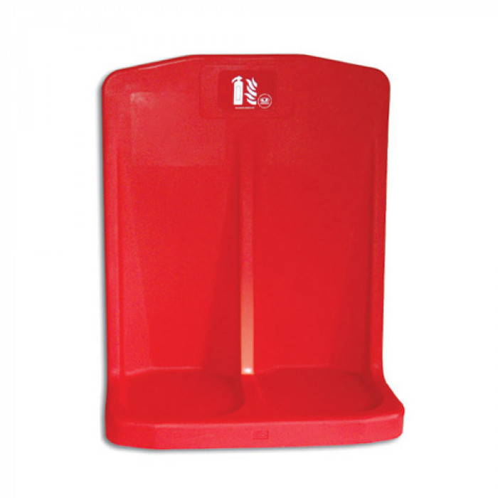 Heavy Duty Double Fire Extinguisher Stand For Site Use (Stand Only)