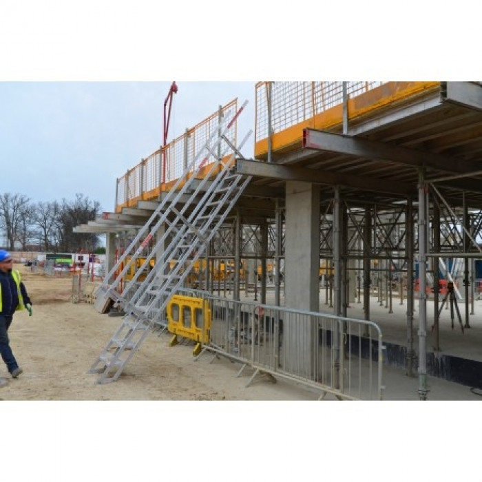Aluminium Portable Site Stairs