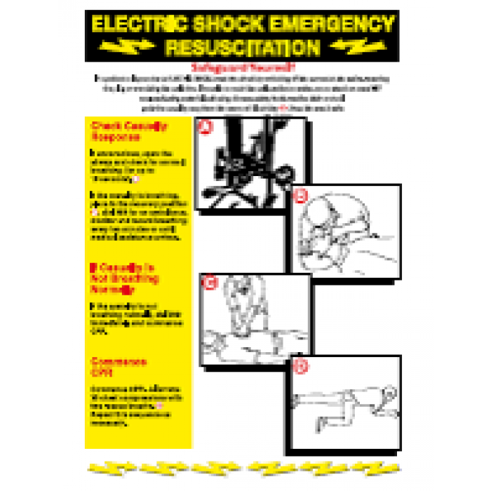 Electric shock emergency resuscitation Poster