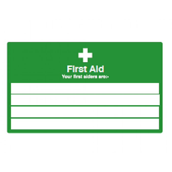 First Aid information (Landscape)