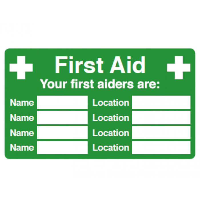 First aid information (inc multiple names and locations)