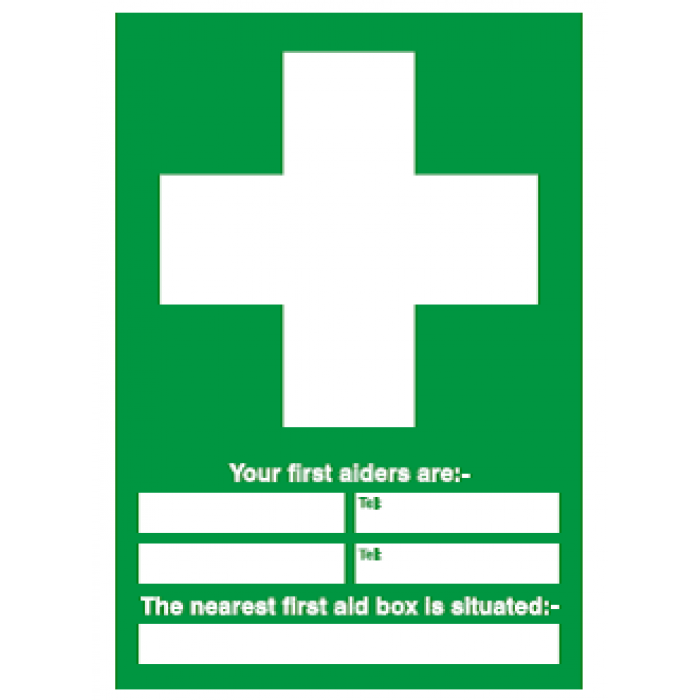 First aid information (portrait)
