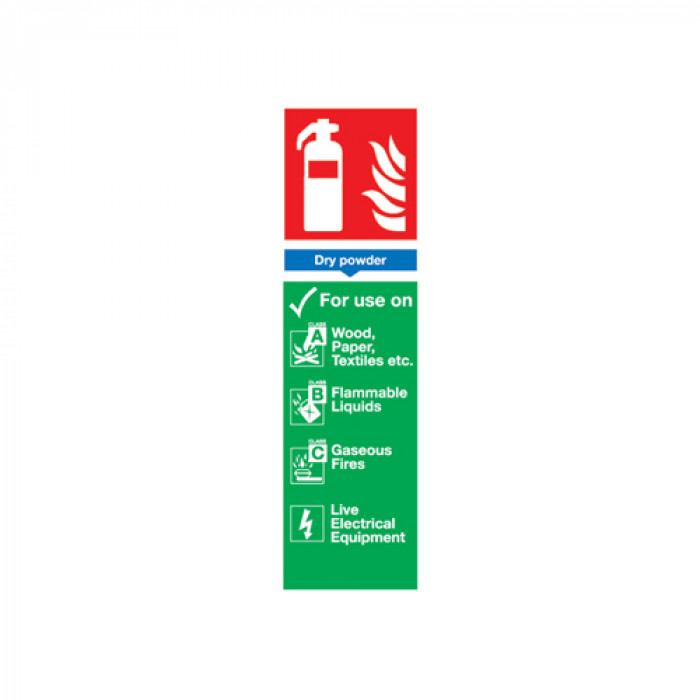 Dry Powder Fire Extinguisher Sign