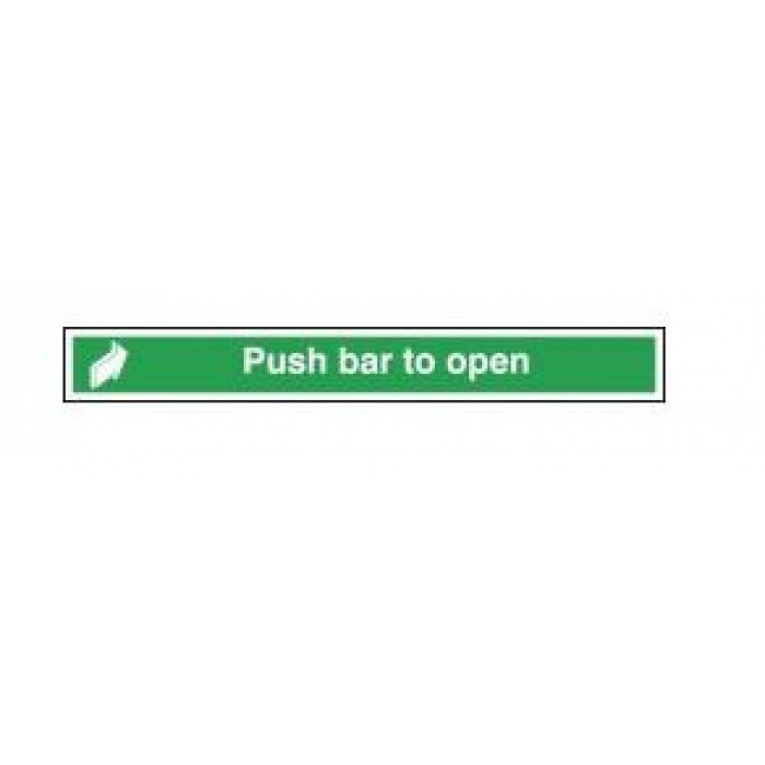 Emergency Exit Sign - Push Bar to Open