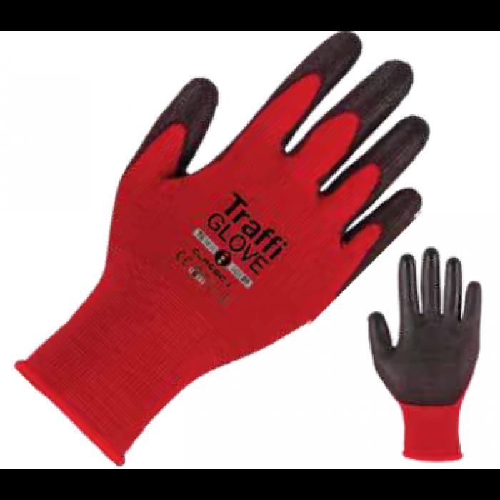 TraffiGlove Agile RED Cut level 1 Nylon Safety Glove
