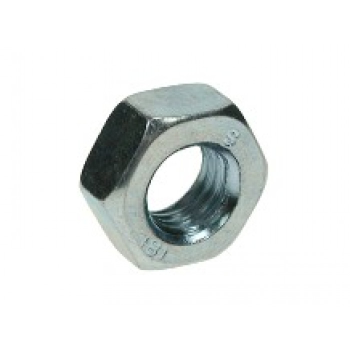 Hexagon Full Nuts Bright Zinc Plated
