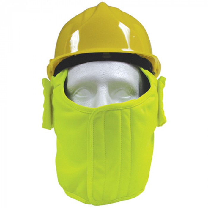 Hi-Vis Yellow Polycotton Winter Helmet liner