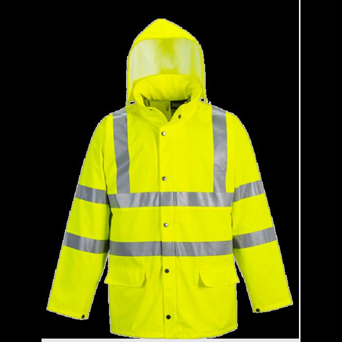 HVBRRJY | Yellow Hi Vis Waterproof Jacket | CMT Group UK