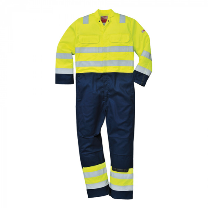 Flame Retardant Coverall - Yellow/Navy