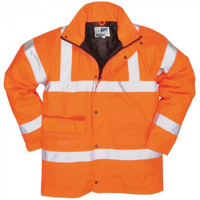 Padded Hi-Vis Site Jacket PPE – Orange