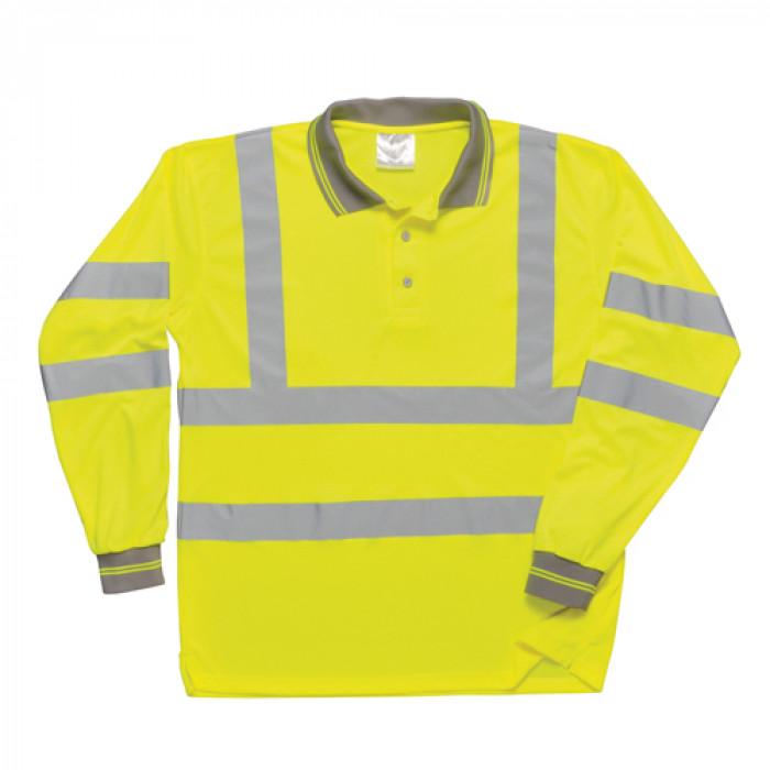 Long Sleeved Polo Shirt - Yellow