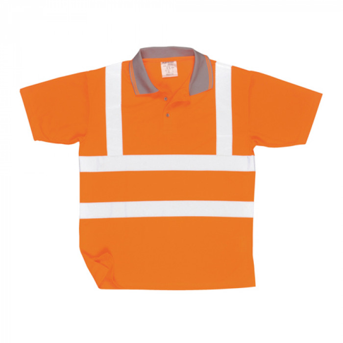 Short Sleeved Polo Shirt - Orange