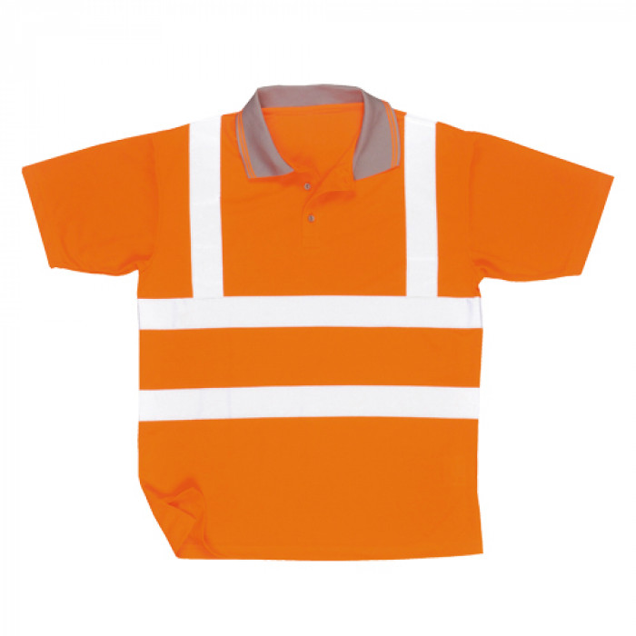Hi Vis Polo Shirt Orange - Size Large