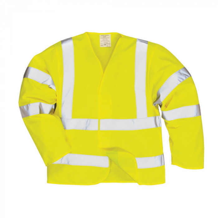Hi Vis Long Sleeved Vest - Yellow