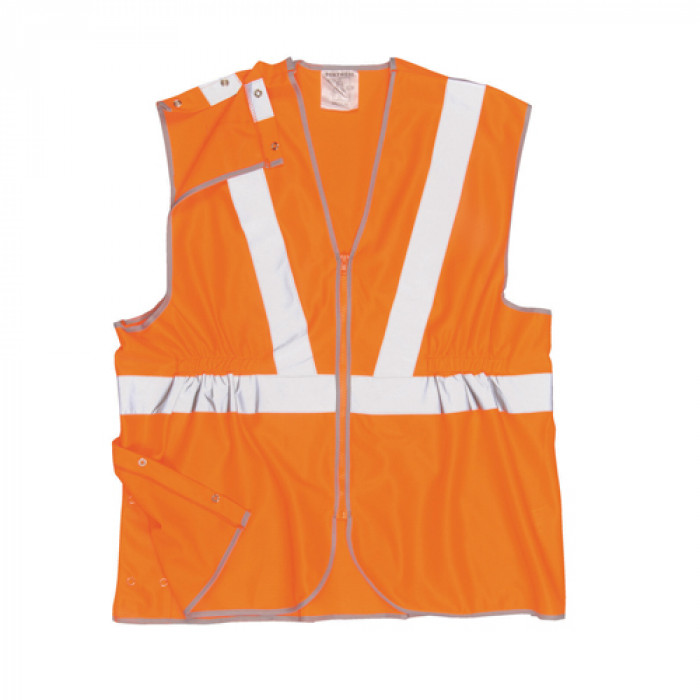 Hi Vis Orange Railway Vest