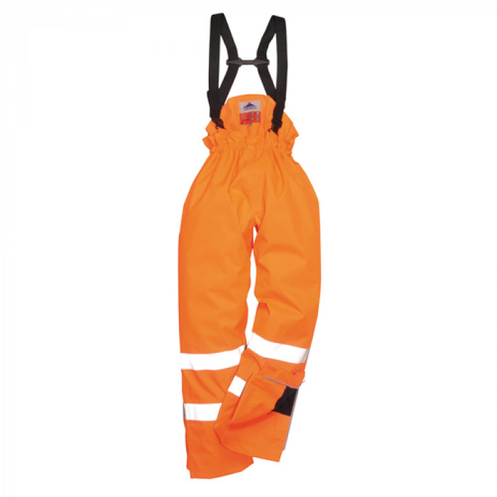 Flame Retardant and Anti Static Waterproof Salopettes - Orange