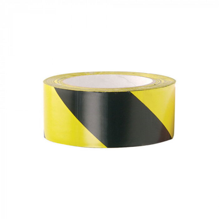 Zebra Tape - Yellow & Black - 100 Metres