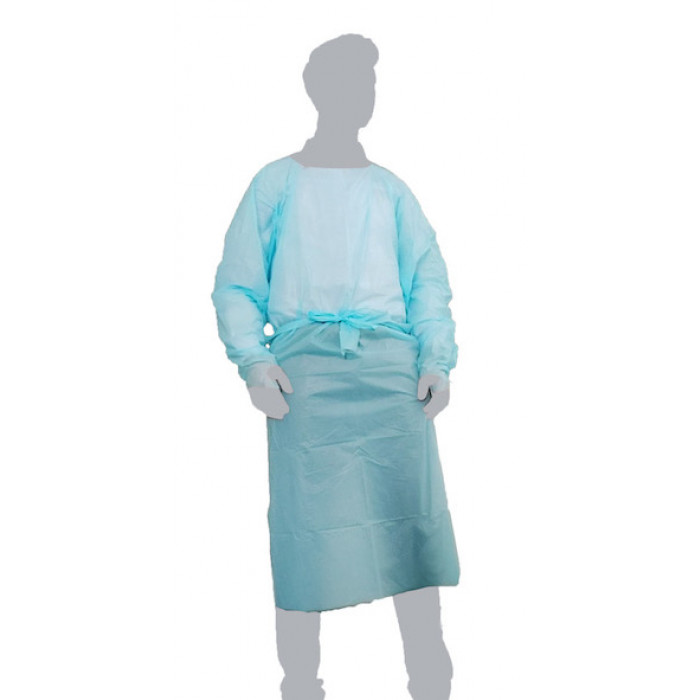 CPE Fluid Repellent Surgical Gown with Thumb Loop - Individual