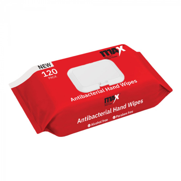 120 per pack - Anti-Bacterial Alcohol Free Cleaning Wipes