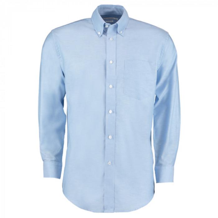 Kustom Kit Premium Oxford Long Sleeve Shirt Sky Blue