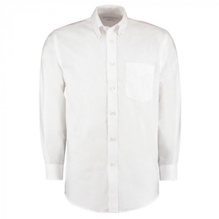 Kustom Kit Premium Oxford Long Sleeve Shirt White