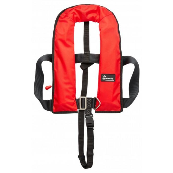 LJBRA150N-H | Bluewave 150N Red AUTOMATIC Lifejacket With Harness & Crutch Strap | CMT