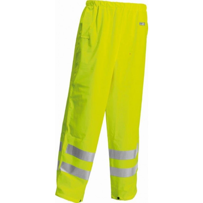 HI-VIS Yellow Water Proof Trousers with Arc Protection FR & AS - Elasticated Waist