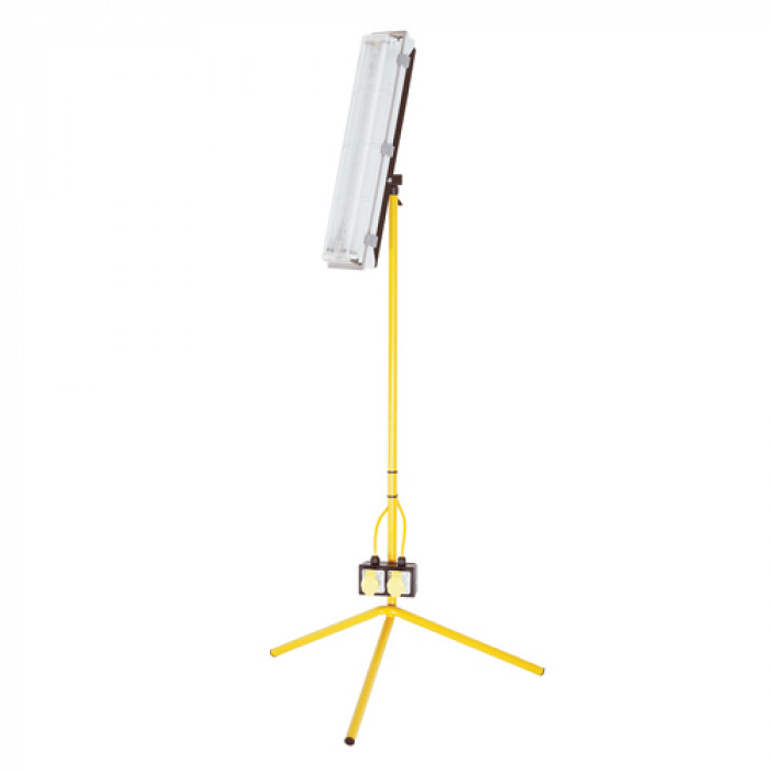 2Ft Fluorescent Tripod Worklight - 110V, 18W