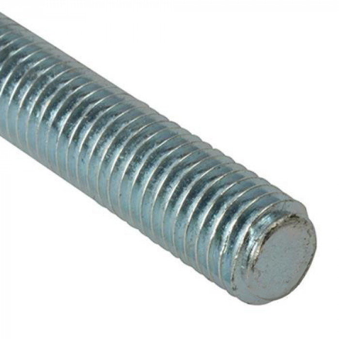 M12 x 2mtr BZP Threaded Rod - M4.6 Grade Zinc Plated