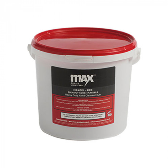 MAX GEL Beaded Red Hand Cleaner - 5Litre