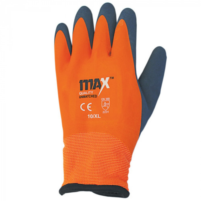 MAX Orange Waterproof Thermal Glove EN388