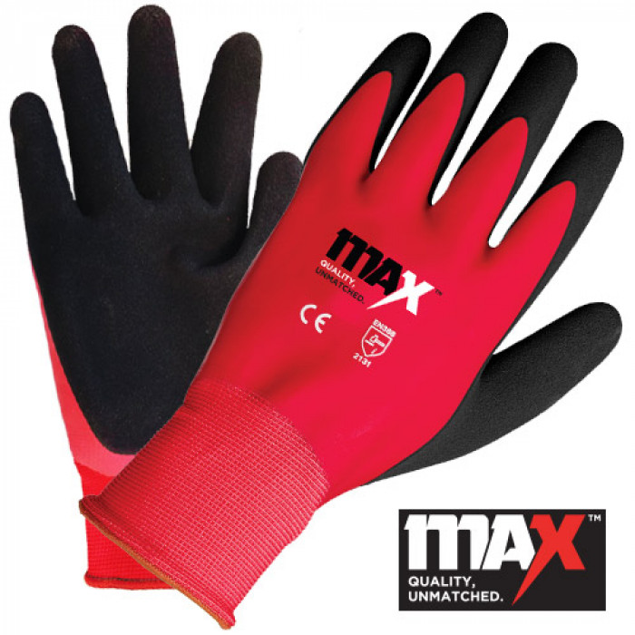 MAX Red Waterproof Glove EN388