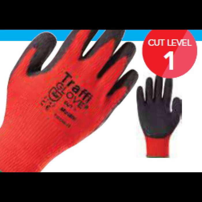 TraffiGlove Nitric Cut Level 1 Nitrile Coated Glove