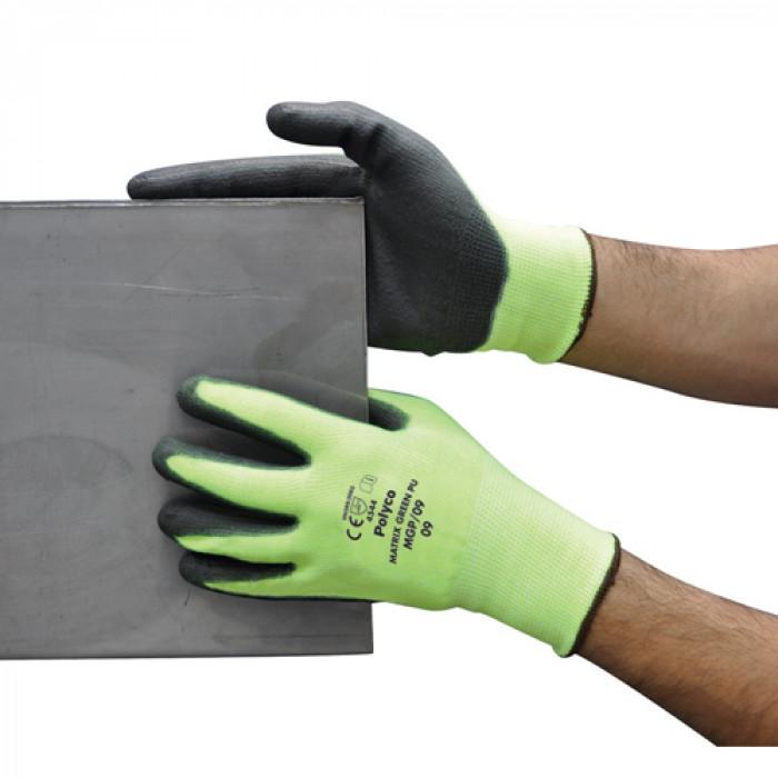 Polyco Matrix Green Cut Level 5 - PU Gloves